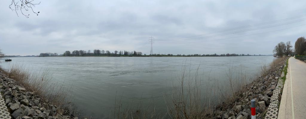 Rhein ohne Schiffsverkehr - Videoleben