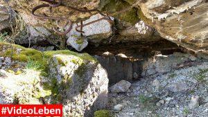 Blick in den Luftschutzbunker oberhalb von Wollseifen - lost places - Geisterdorf im Nationalpark Eifel - Videoleben