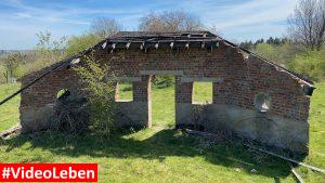 Hausgrundmauern in Wollseifen - lost places - Geisterdorf im Nationalpark Eifel - Videoleben