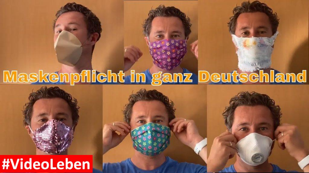 Maskenpflicht in ganz Deutschland - Atemschutzmaske aus einer Pampers - selbst genäht - aus einem Kaffeefilter - FFP2 - Videoleben