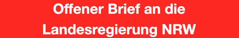 offener Brief an die Landesregierung von Nordrehin-Westfalen - VideoLeben von familyeller