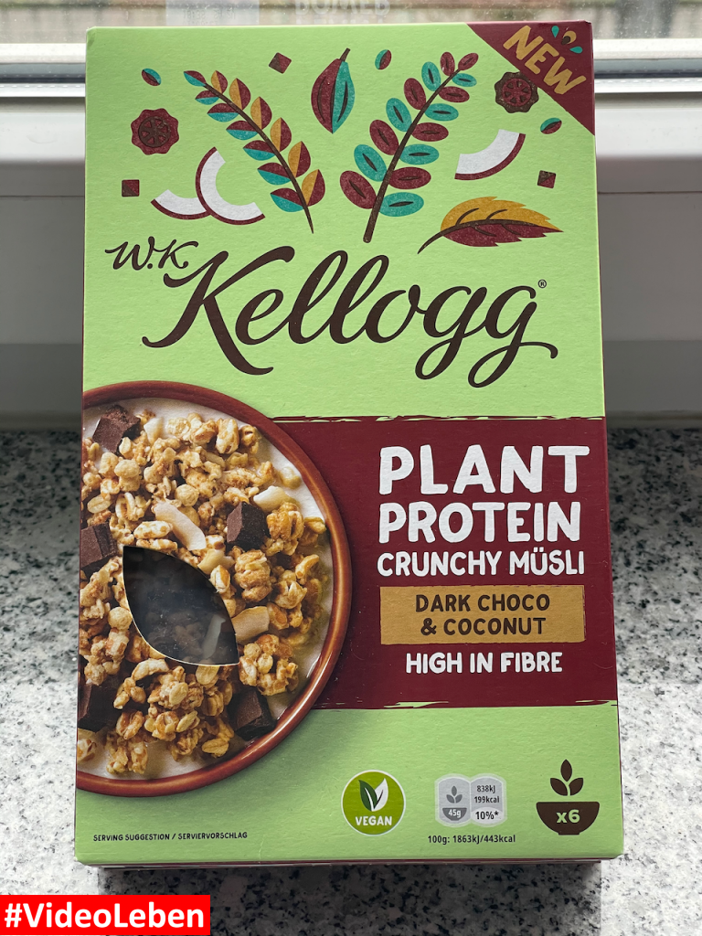 Produkttest brandnooz - neues W.K. Kellogg® Müsli - Dark Choco & Coconut - Rezeptfamilie - Videoleben