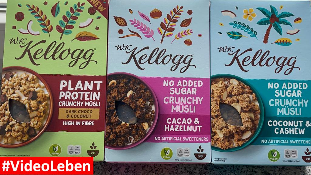 Produkttest von brandnooz - neue W.K. Kellogg® Müslis   Dark Choco & Coconut - Cacao & Hazelnut - Coconut & Cashew - Rezeptfamilie - Videoleben