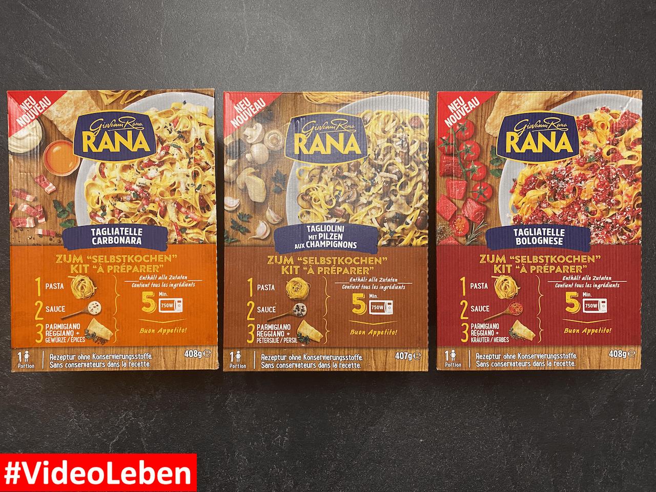 neue Pasta-Sets von Giovanni Rana - wir haben sie getestet - Tagliatelle Bolognese - Tagliatelle Carbonara - Tagliolini mit Pilzen - Gnocchi alla Sorrentina - Rezeptfamilie - Videoleben - Familyeller
