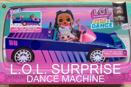 LOL Surprise Dance Machine Car mit exklusiver Puppe, Surprise Pool - Dance Floor & Magic Blacklight