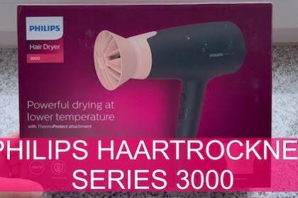 Philips Haartrockner Series 3000 - Ein leistungsstarker Fön, bei niedriger Temperatur - getestet von VideoLeben