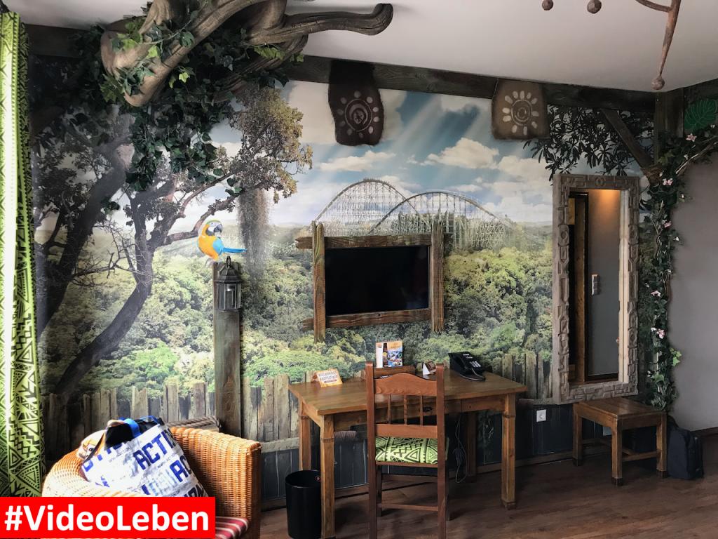 Ausstattung Dschungelzimmer im Abenteuerhotel - Heide-Park Resort Soltau #Videoleben