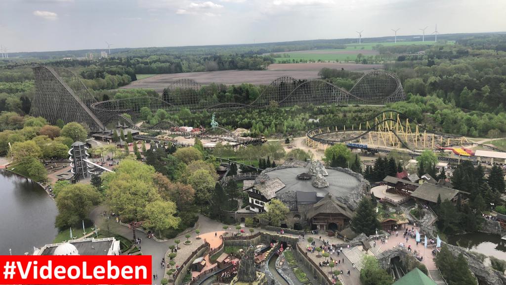 Blick auf Kolossos vom Panoramaturm - Heide-Park Resort Soltau #Videoleben
