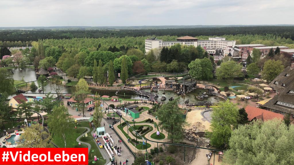 Blick vom Panoramaturm - Heide-Park Resort Soltau #Videoleben