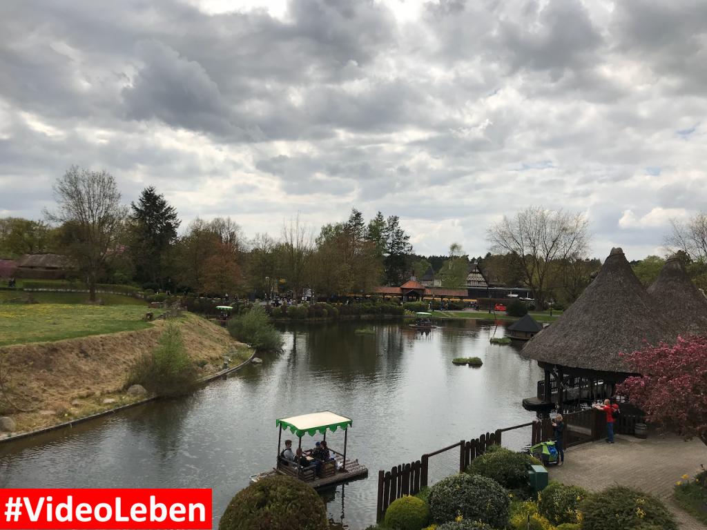 Floßfahrt von der Monorail aus - Heide-Park Resort Soltau #Videoleben