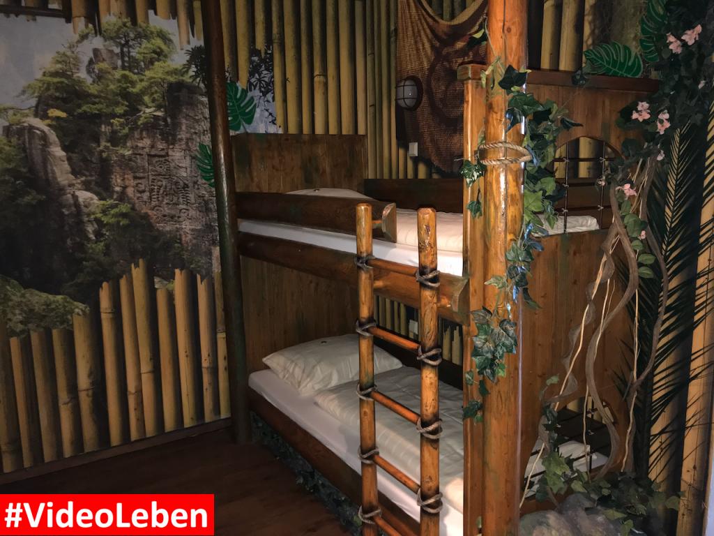 Hochbett im Dschungelzimmer - Heide-Park Resort Soltau #Videoleben