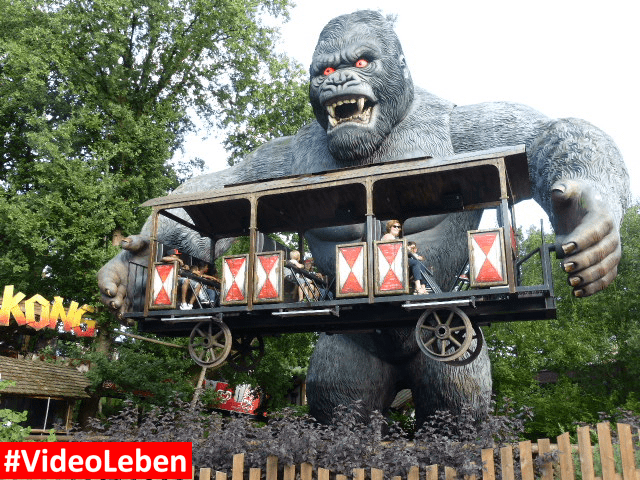King Kong mit Bahn Bobbejaanland Belgien #Videoleben