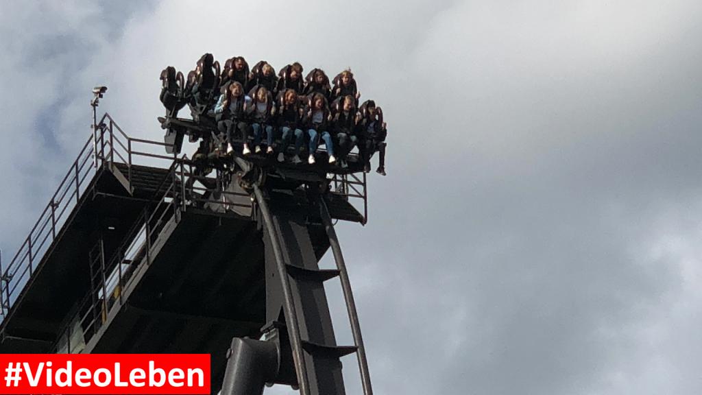 unter runter geht es bei der Krake - Heide-Park Resort Soltau #Videoleben