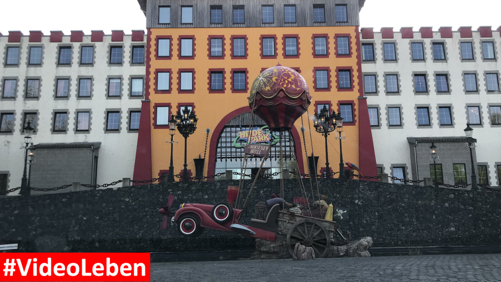 vor dem Abenteuerhotel - Heide-Park Resort Soltau #Videoleben