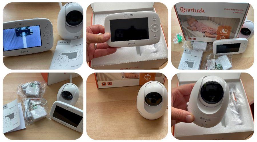 Babyphone mit Kamera, enntuzk 4,3 Zoll Video Baby Phone Monitor Camera mit Gegensprechfunktion, 300M Hohe Reichweite, Nachtsicht, Tages-Long-Batterie und Temperatursensor - getestet von #Videoleben