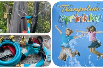 LESDOI® Rotierender Trampolin Sprinkler - für heiße Sommertage - rotierender Wasserspaß - getestet von #VideoLeben